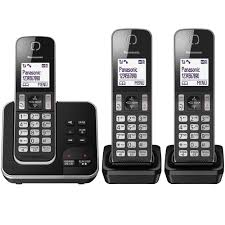 panasonic kx tgd323eb cordless home phone with nuisance amazon co