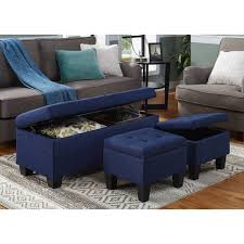 Ottoman With Storage Furniture Beautiful Blue Storage Ottoman For Living Room Design