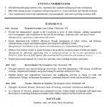 event planner resume template event planner resume old version