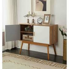 modern console table with drawers century modern console table storage cabinet with solid wood legs