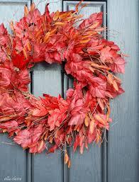 autumn wreath the wreath trick autumn leaves ella