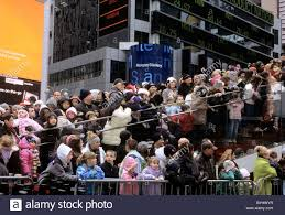 new york city times square and broadway crowd macy s