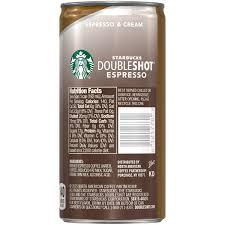 starbucks doubleshot espresso u0026 cream 6 5 fl oz walmart com