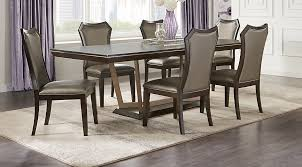 rooms to go dining room sets sofia vergara cambrian court brown 5 pc dining room dining room
