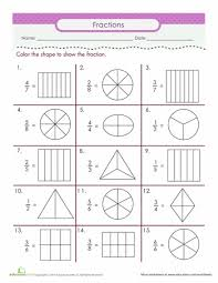 printable math worksheets fractions color the fraction worksheets maths and activities