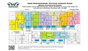 Business Floor Plan Design by Site Map Floor Plans Business Weston Commercial Center Weston Fl