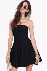 black skater dress lucluc black strapless pleated skater dress lucluc
