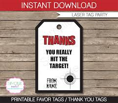 laser tag party favor tag templates thank you tags