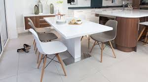 Eames Chair Dining Table Eames And White Gloss Extending Dining Set