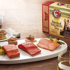 salmon gift basket smoked salmon trio gift box with smoked sockeye salmon