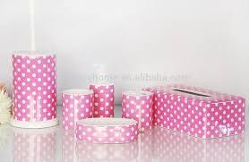 polka dot pink shower curtain bath mat set ceramic bath