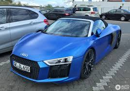audi r8 chrome blue audi r8 v10 spyder 2016 17 april 2017 autogespot