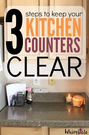 Declutter Kitchen Counters by How To Keep Kitchen Counters Clear Whimsicle
