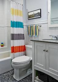 Kids Bathroom Tile Ideas Colors Kids Bathroom With Subway Tiled Tub Transitional Bathroom