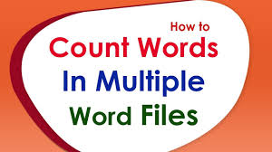 Count Same Words In Document How To Count Words In Word Files Doc Docx Dot