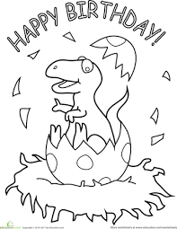 birthday coloring pages boy happy birthday dinosaur happy birthday birthdays and dinosaur