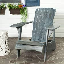 Best Wood For Patio Furniture - safavieh mopani all weather patio lounge chair in ash gray 1 piece