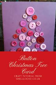button christmas tree card tutorial 24xmascrafts advent shell