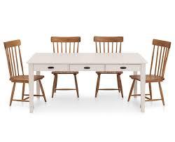 magnolia home theater magnolia home 5 pc farmhouse dining set with 6 u0027 white table