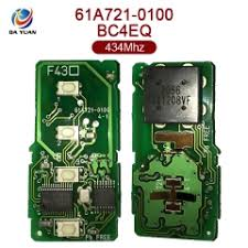 lexus card original for lexus smart card 3 1 button 434mhz 8a chip 61a721