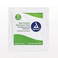 qosmedix dynarex non acetone nail polish remover pads