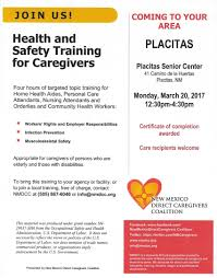 upcoming u201chealth and safety for caregivers u201d training on march 20 2017
