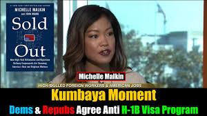 Trump Kumbaya Kumbaya Moment Dems U0026 Repubs Agree Anti H 1b Visa Michelle