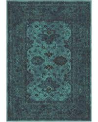 incredible deal on ethnicagra overdye area rug aqua blue 6 u00277
