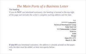Business Letter Spacing Uk Parts Of A Business Letter 8 Download Free Documents In Pdf Ppt