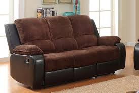 homelegance bunker sofa double recliner chocolate corduroy and