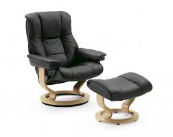 stressless mayfair small recliner chair and stool leather