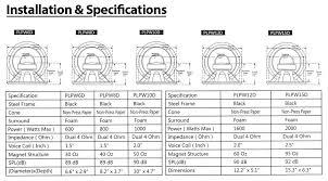 amazon com pyle plpw8d 8 inch 800 watt dual 4 ohm subwoofer car