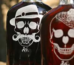 his and flasks rockabilly his and skull flasks scissormill