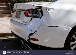 lexus rear bumper accident damaged rear bumper on a car stock photo royalty free