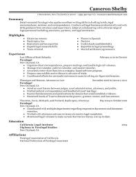 Examples Of Federal Government Resumes by Best Paralegal Resume Example Livecareer