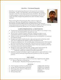 bio vs resume professional bio template cyberuse