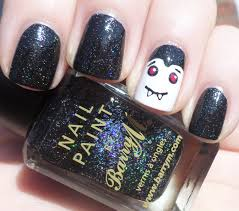 bat nail art photo album cerene creative and easy halloween nail