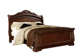 north shore dark brown california king sleigh bed ashley b553