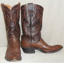 mens leather motorcycle riding boots vintage brown leather hyer olathe ks cowboy boots mens 7d western