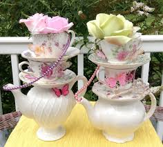 tea party table tea party table decoration ideas with flowers roses teapot