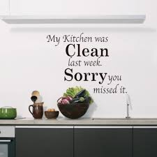 clean wall kitchen clean english proverbs quotes diy kitchen wall stickers