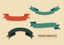 free vector vintage ribbon vectors 12864 my graphic hunt
