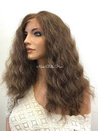 Light Brown Balayage Light Brown Balayage Curly Human Hair Blend Deep Parting Full Lace