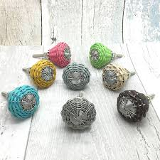 willow woven cord cupboard door knobs pull handles by g decor