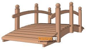 wooden bridge plans arched garden bridge plans landscape bridge construct101
