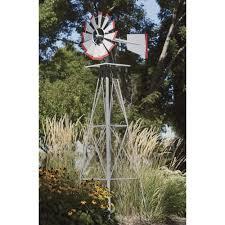 8ft ornamental garden windmill galvanized steel finish with