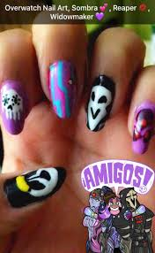 19 best overwatch nails images on pinterest geek nail art and