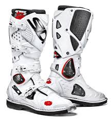 white motocross boots sidi cycling and motorcycling shoes and clothes