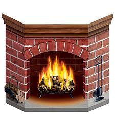 brick fireplace stand up accessory 1 count 1
