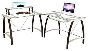 Glass L Shaped Desk Office Depot Office Desk Desks Office Depot Glass L Shaped Desk With Chrome